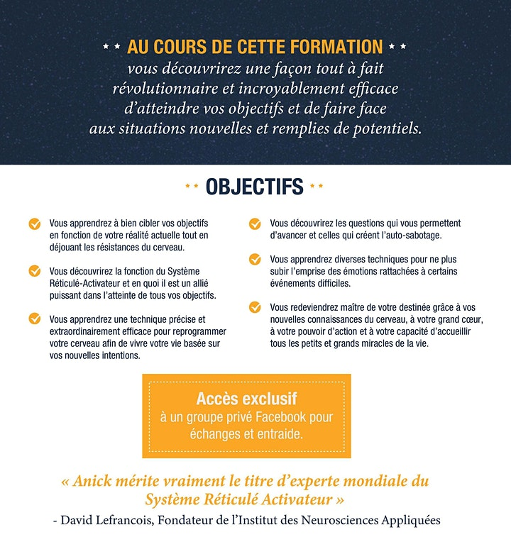 Image de Week-end de formation – Reprogrammez votre cerveau à Laval