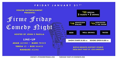 Firme Friday Comedy Night tickets