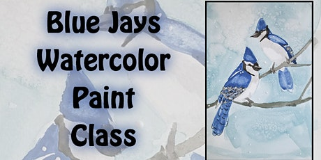 Bluejay Watercolor Paint Class with Amanda tickets