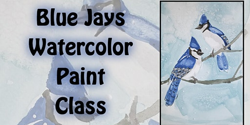 Bluejay Watercolor Paint Class with Amanda