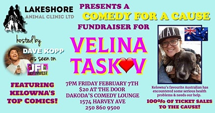 Lakeshore Animal Clinic Presents Comedy for a Cause for Velina Taskov tickets