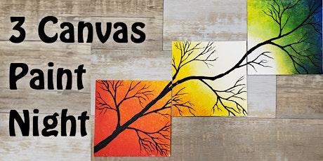 3 Canvas Paint Night tickets