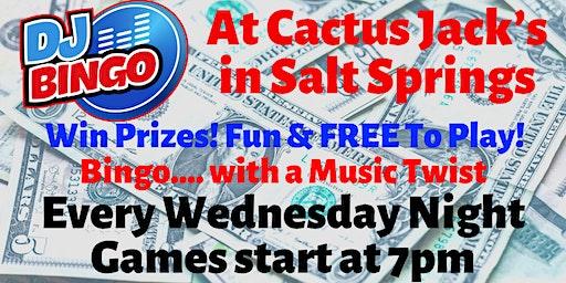 Play DJ Bingo FREE In Salt Springs - Cactus Jack's