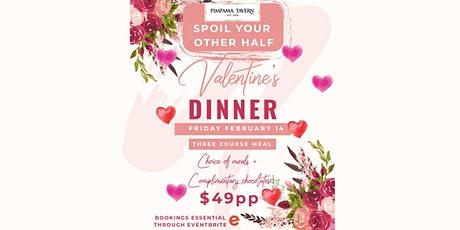 Valentine's Day 3 Course Meal @ Pimpama Tavern! tickets