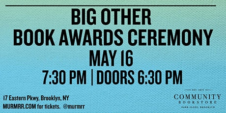 Big Other Book Awards Ceremony tickets