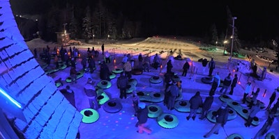Layer up for Cosmic Tubing on Mt. Hood with Bungalow