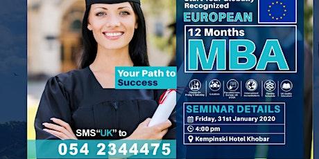 UK - MBA Seminar Khobar January 31.2020 tickets