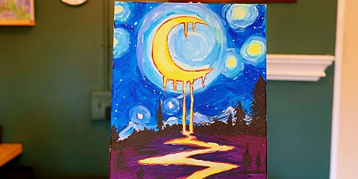 THINGS TO DO -PAINT & SIP:THE MOON TONIGHT