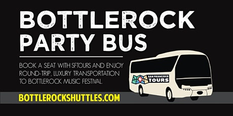 Bottlerock Napa Shuttle Bus from San Francisco - FRIDAY 5/22 tickets