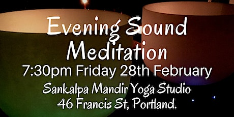 Evening Sound Meditation ~ Portland tickets