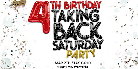 Taking Back Saturday 4th Birthday Party tickets