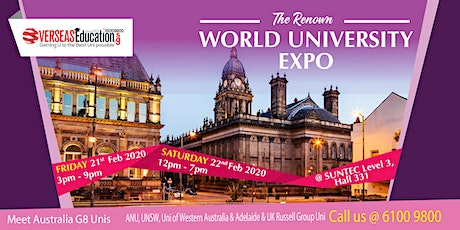 The Renown World Uni Expo @ Suntec Level 3 Hall 331 | Fri 21 Feb & Sat 22 Feb  tickets