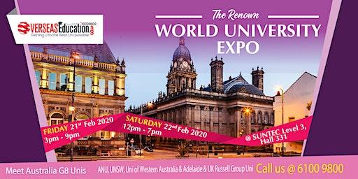 The Renown World Uni Expo @ Suntec Level 3 Hall 331 | Fri 21 Feb & Sat 22 Feb