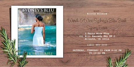 Words & Wine: Sydney's Bleu Book Signing Event tickets