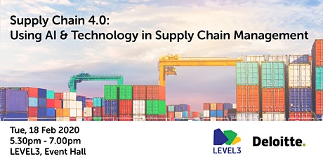 (POSTPONED) Supply Chain 4.0: Using AI & Technology in Supply Chain Management  tickets