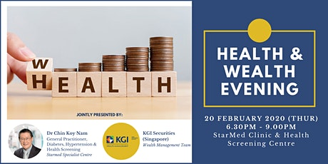 [Talk] Health and Wealth Evening tickets
