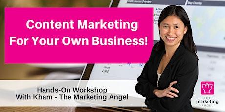 Content Marketing Planning - HANDS-ON WORKSHOP tickets