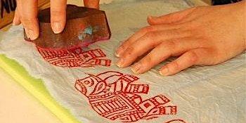 Hand block printing workshop in Frankfurt