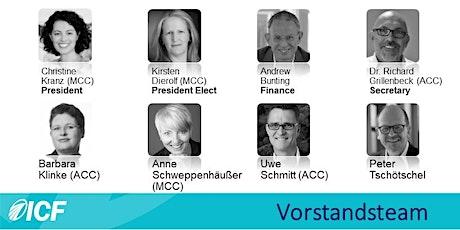 Sei ganz vorne mit dabei: ICF Deutschland Strategie & Ziele 2020!  ICF Deutschland Mitglieder & Vorstand online meeting: let`s interact and build the future! Tickets