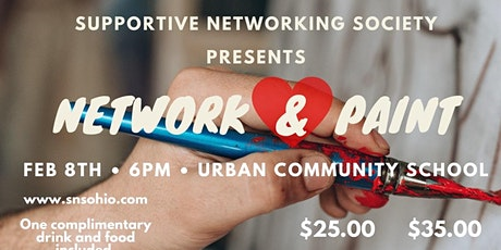 Supportive Networking Society Presents: Network And Paint tickets