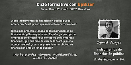 Start(it)up Ciclo formativo con UpBizor entradas
