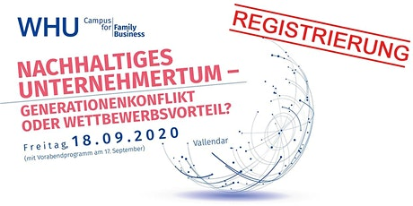 WHU Campus for Family Business 2020 - Registrierung Tickets