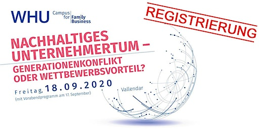 WHU Campus for Family Business 2020 - Registrierung