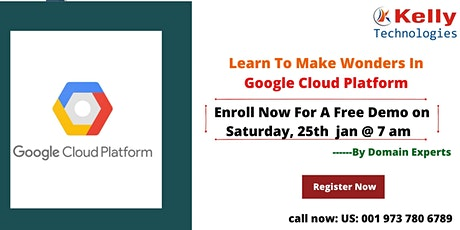 Join Us For Interactive Free Online Demo On GCP On 25th January, At 7:00 AM tickets