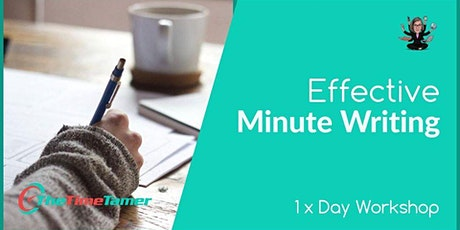 Effective Minute Writing tickets