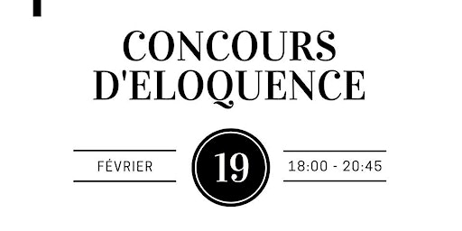 Concours d'éloquence - Qualifications