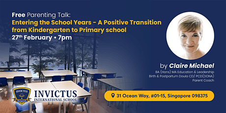 FREE Parents Talk:A Positive Transition from Kindergarten to Primary School tickets