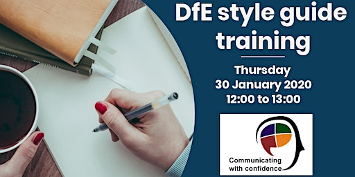 Learn about the DfE writing style