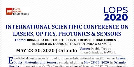 International Conference on Lasers, Optics, Photonics & Sensors tickets