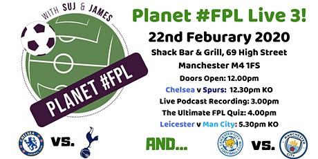 Planet #FPL Live 3 | Manchester Baby! tickets