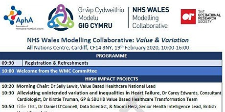 Value & Variation: NHS Wales Modelling Collaborative National Event tickets