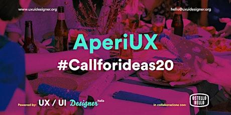 AperiUX - #callforideas20 biglietti
