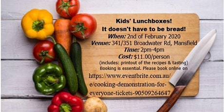 Cooking Demonstration for everyone tickets