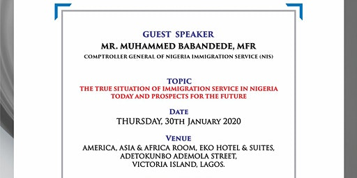 NSACC JANUARY 2020 BREAKFAST FORUM-THURSDAY 30TH JANUARY 2020 AT EKO HOTEL