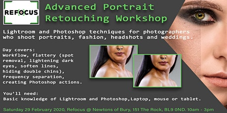 Advanced Portrait Retouching Workshop tickets