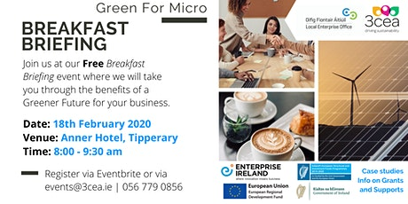 Green for Micro Free Breakfast Briefing - Tipperary tickets
