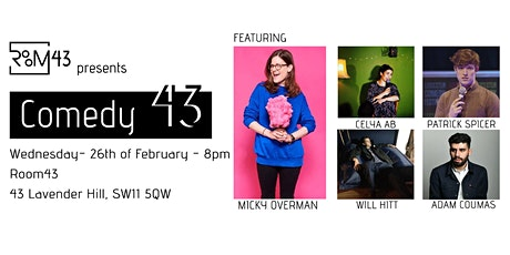 Comedy 43 - 26th of February tickets