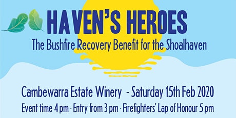 Haven's Heroes Bushfire Recovery Benefit for the Shoalhaven tickets
