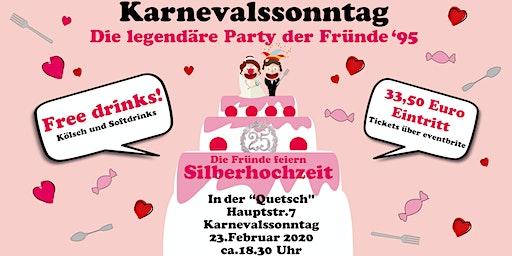 Karnevalsparty - Silberhochzeit der Fründe vun '95