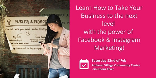 Learn how to take your business to the next level with the power of Facebook Marketing!
