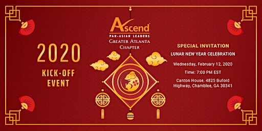 2020 Ascend Greater Atlanta Kick-Off Event, Special Invitation to Lunar New Year Celebration