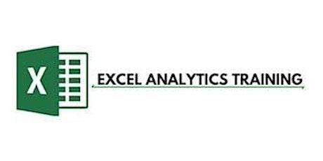 Excel Analytics 3 Days Training in Hamilton City tickets