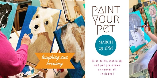 Paint Your Pet at Laughing Sun- all are welcome!