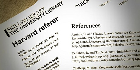 Referencing & Plagiarism | CC - Curzon 489 | 13:00 - 14:00 tickets