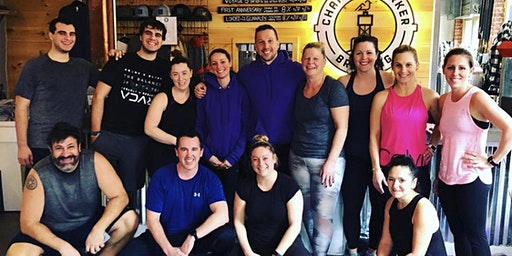 Taproom workout for Pete Frates
