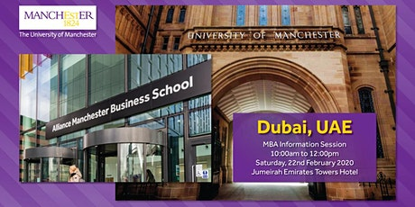 The Manchester Global Part-time MBA Breakfast Information Session in Dubai tickets
